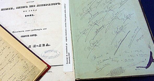 Manuscrise si documente eminesciene, expuse la BCU | AltIasi